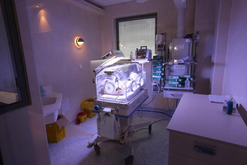Interior din cadrul noii secții de terapie intensivă a spitalului Marie Curie din București