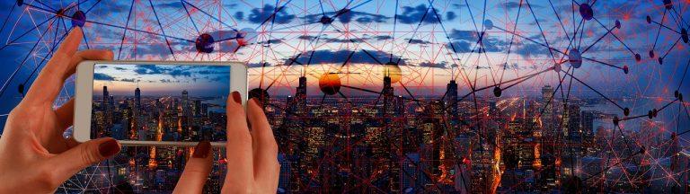 city, panorama, smartphone